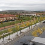 Even the suburbs of Vitoria-Gasteiz are green and pedestrian friendly. Photo, David Dodge