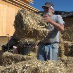Brad Leavitt making smaller bales