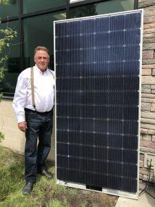 Brazeau goes solar