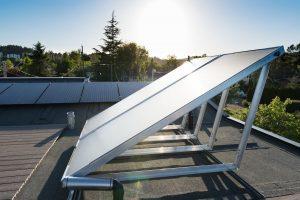 Solar thermal on Parker Avenue Net-Zero Home