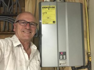 Tankless, endless hot water, 95% efficient