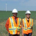 Tim Weis at Blackspring Ridge Wind Farm