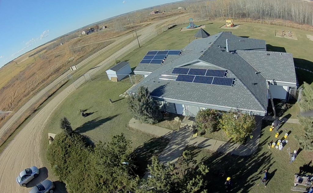 Solar on the Louis Bull Daycare Centre