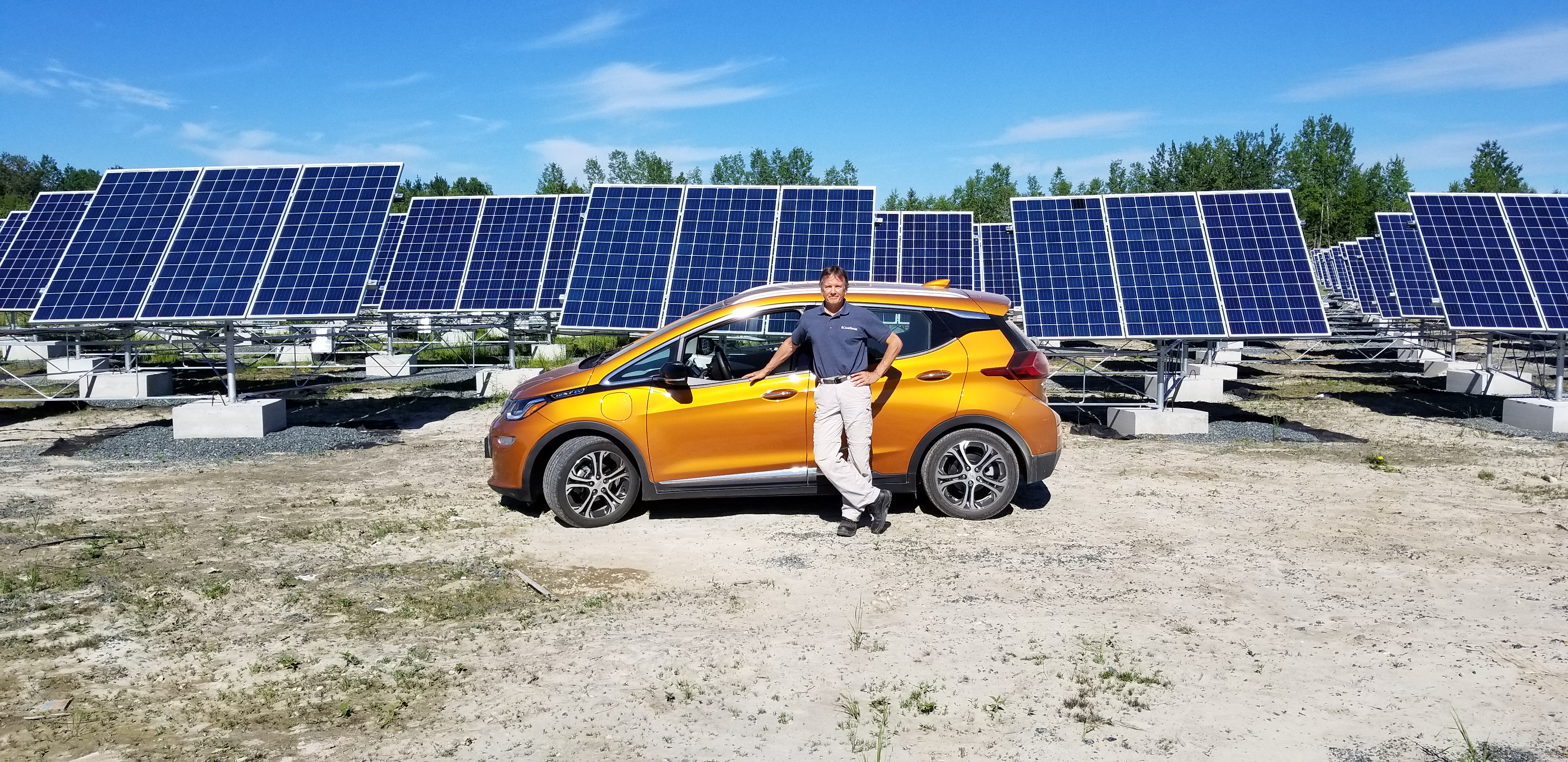 198 Solarshare Co Operative Reaches 60 Million In Projects Green Solar Panel Car Ford Mike Brigham Of With His Pure Electric Chevrolet Bolt
